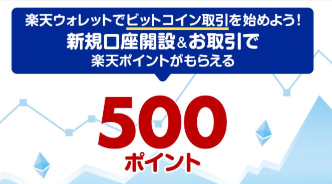 楽天ウォレット新規口座開設&お取引で500ポイントプレゼントキャンペーン
