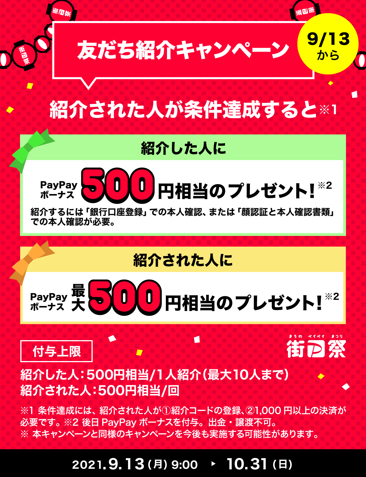 友だち紹介キャンペーン
